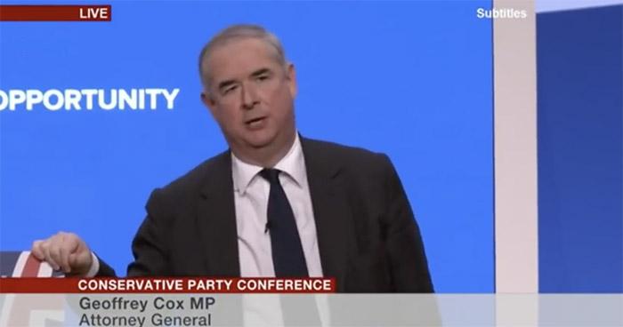 Geoffrey Cox QC barrister