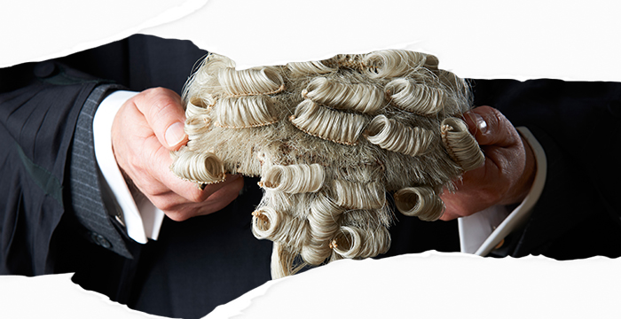barristers lawyers wig