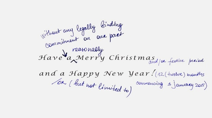 Christmas card law student